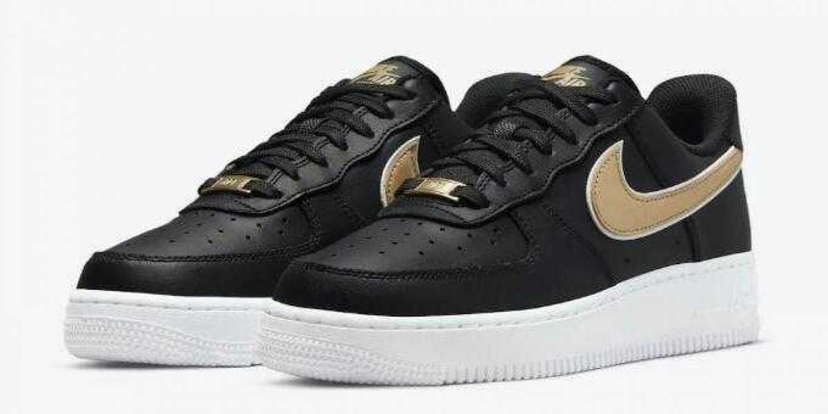 New Drop Luxurious Nike Air Force 1 Low Covered by Black and Gold